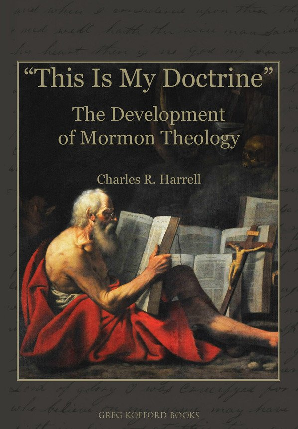 Cover for book showing old man studying open texts and a crucifix