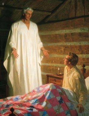 Moroni in Joseph's bedroom