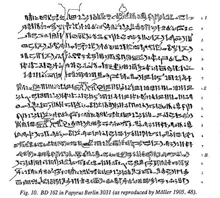 BD 162 in Papyrus Berlin 3031