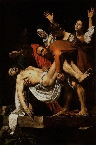 Caravaggio's The Entombment of Christ (ca. 1602)