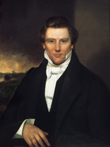 Joseph Smith portrait by unknown artist, ca. 1842