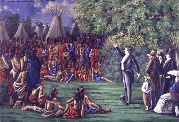 Joseph Smith Preaching To The Indians