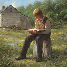 Joseph Smith Reading the Bible