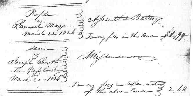 Documento del corte citando a José Smith