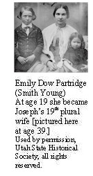 Emily Dow Partridge with two of her children