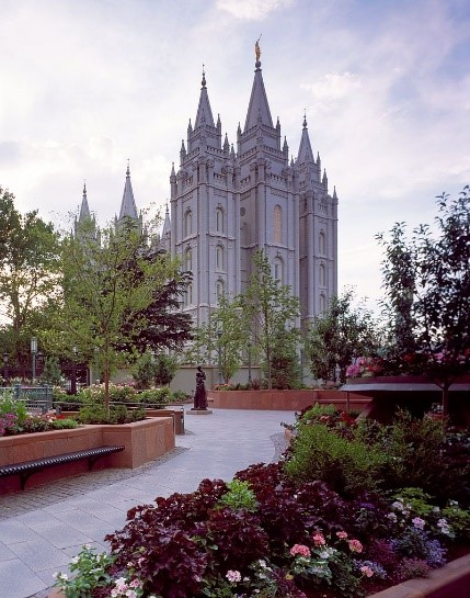 Salt Lake Temple, in Salt Lake City, Utah