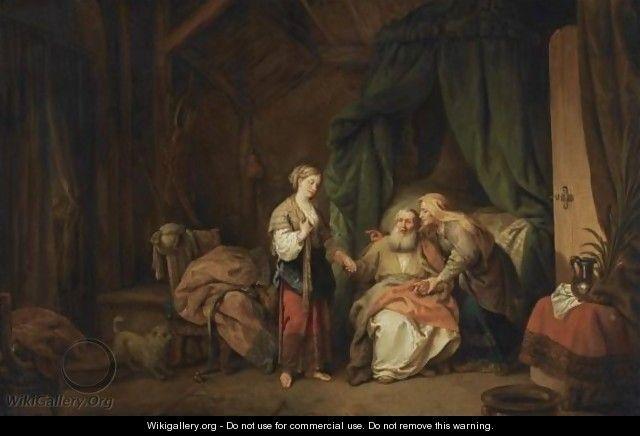 Christian Wilhelm Ernst Dietrich, Sarah Offering Hagar to Abraham, ca. 1770
