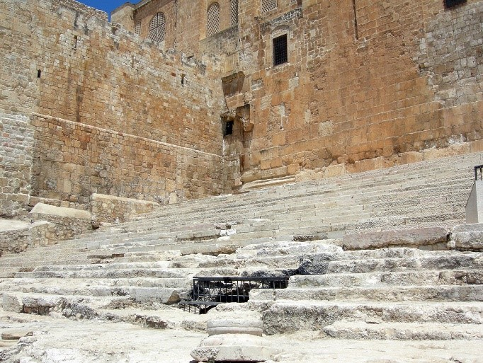 Stairs of Ascent to the entrance to the Temple Courtyard in first-century Jerusalem