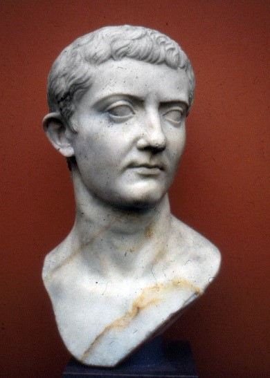 Bust of a young Tiberius, the Roman emperor, at the time of Jesus' crucifixion