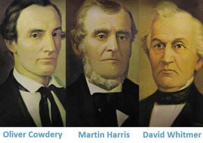 The Three Witnesses--Oliver Cowdery, Martin Harri and David Whitmer