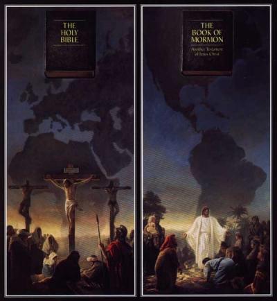 Conhecida ilustração Mórmon de um suposto paralelo entre o Cristianismo Bíblico e a Fé SUD