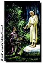 Joseph Smith Receiving The Gold Plates