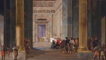 The Queen of Sheba before the temple of Solomon in Jerusalem, by Salomon de Bray
